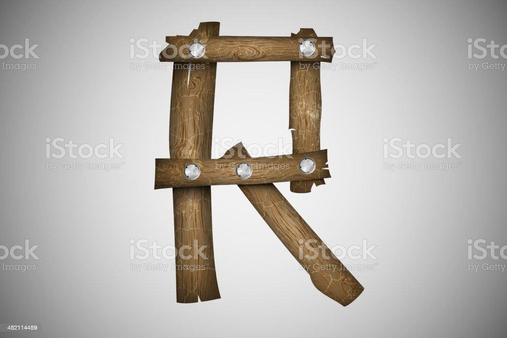 Wooden alphabet royalty-free stock vector art