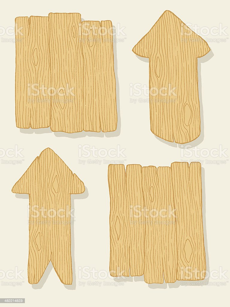 Wooden arrows and planks royalty-free stock vector art