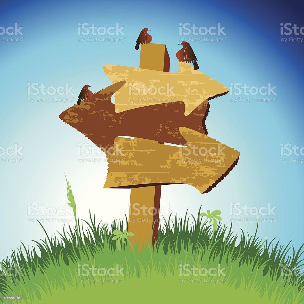 Wooden arrows royalty-free stock vector art