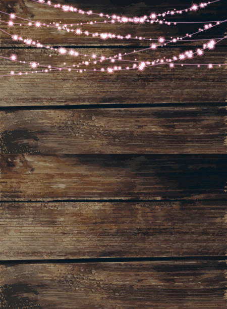 String Of Lights Background : Wood Background Clip Art, Vector Images & Illustrations - iStock