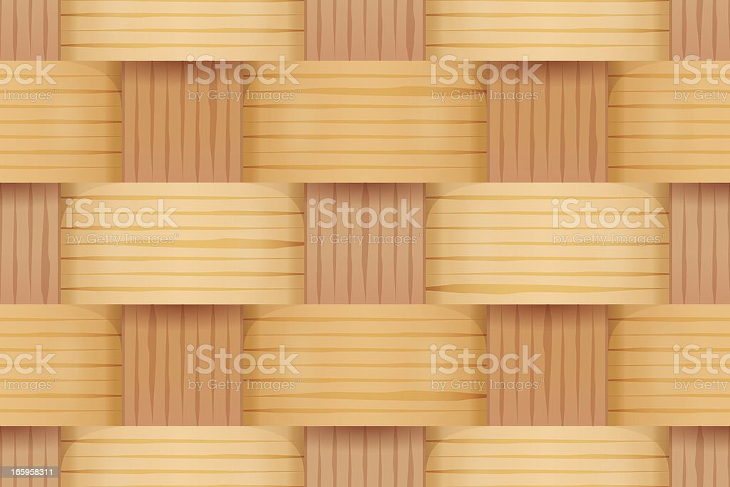 Wooden basked weave vector art illustration