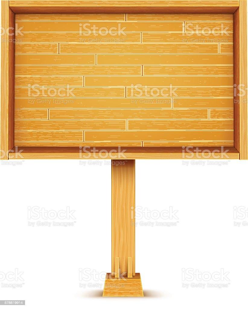 Wooden Billboard vector art illustration