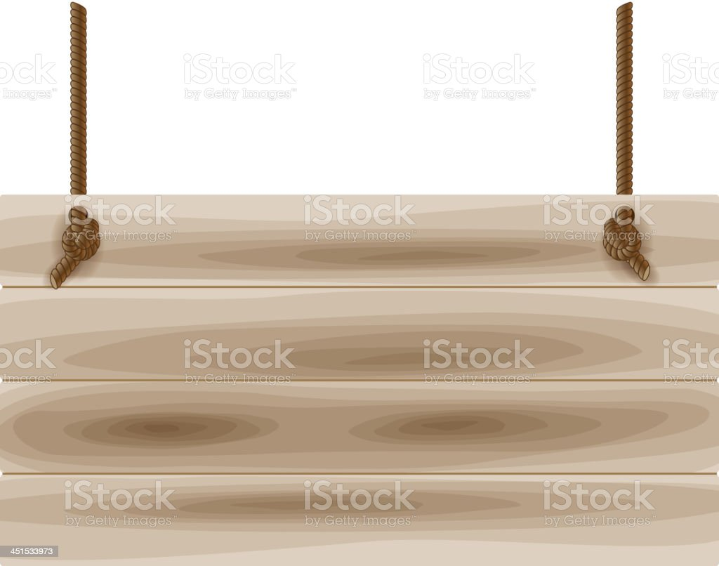 Wooden board royalty-free stock vector art