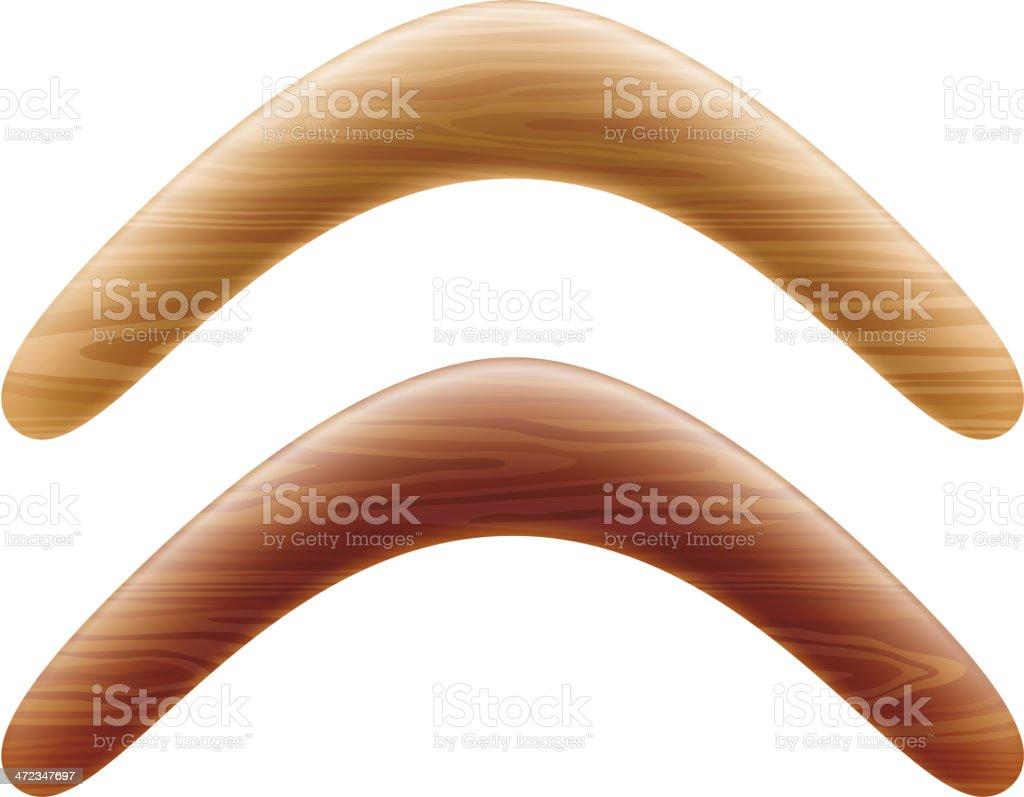Wooden boomerang royalty-free stock vector art