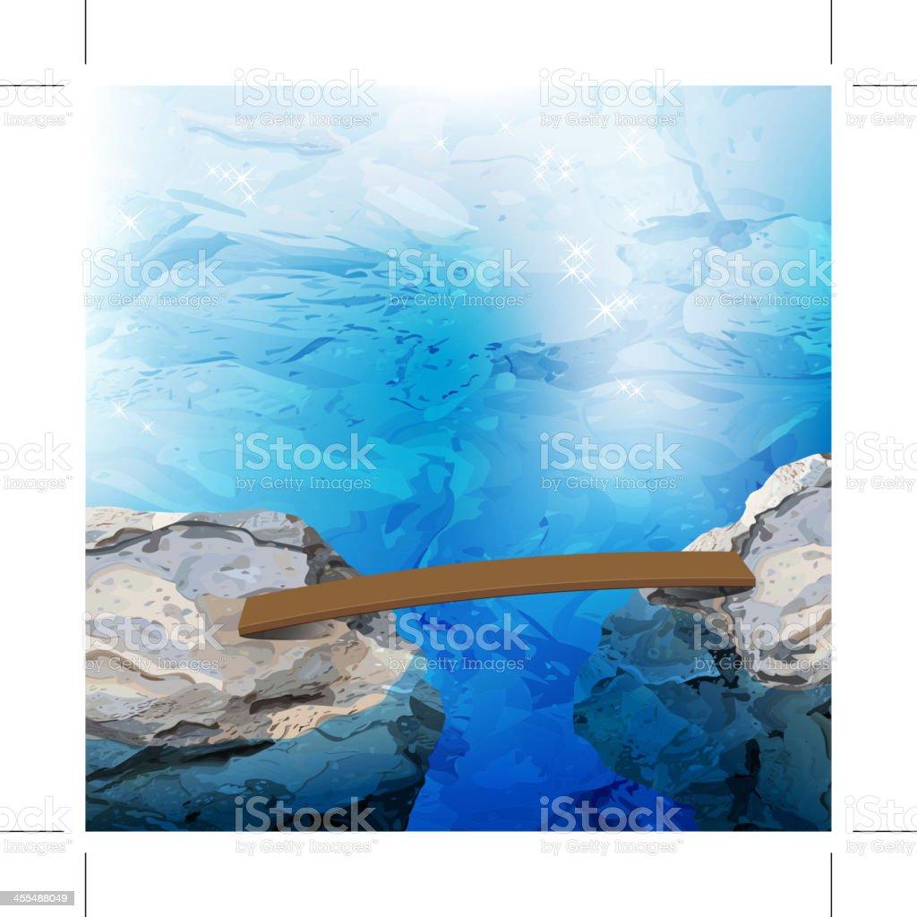 wooden bridge royalty-free stock vector art