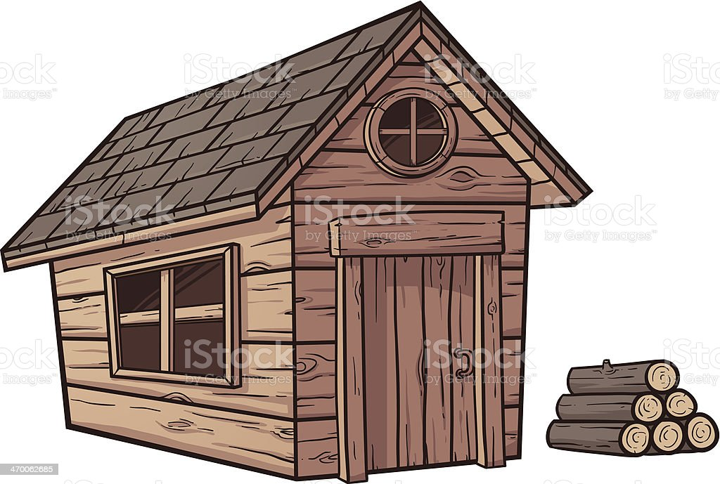 Wooden cabin royalty-free stock vector art