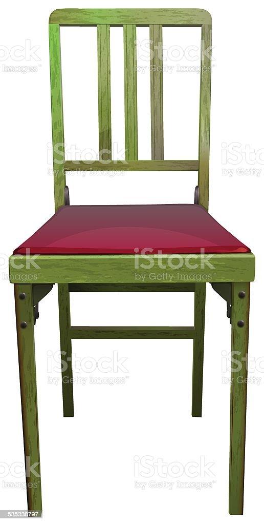 Wooden chair vector art illustration