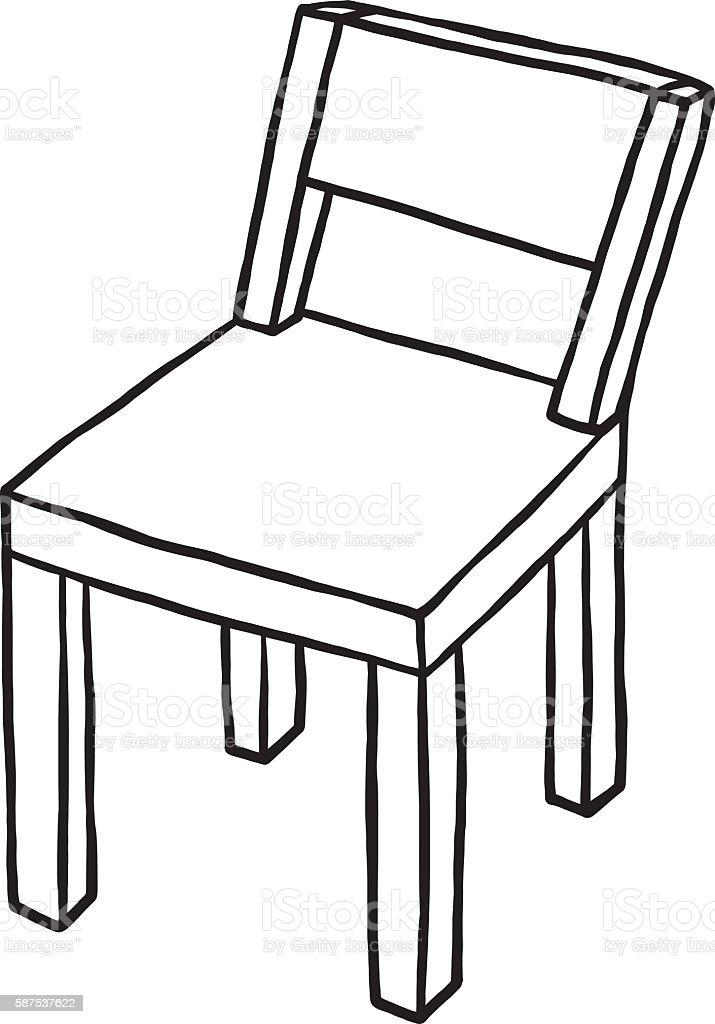 Wooden Chair Stock Vector Art 587537622 IStock
