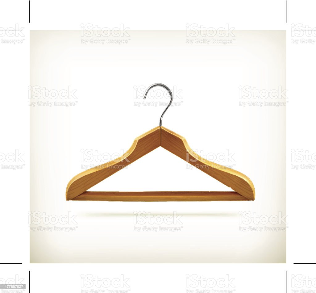 Wooden clothes hanger icon royalty-free stock vector art