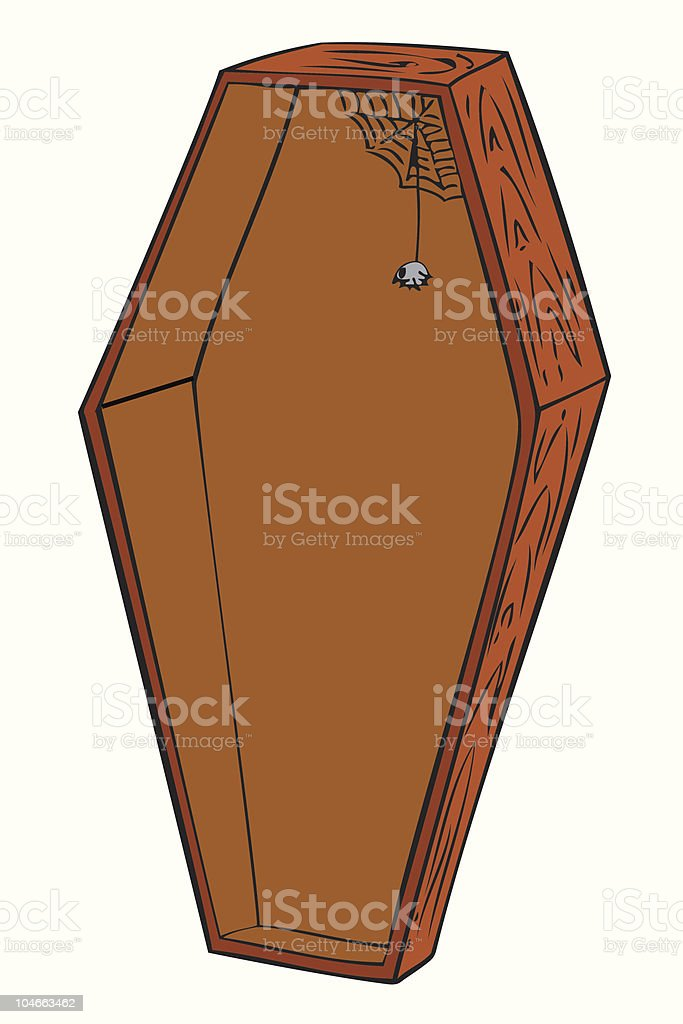 Wooden coffin. royalty-free stock vector art