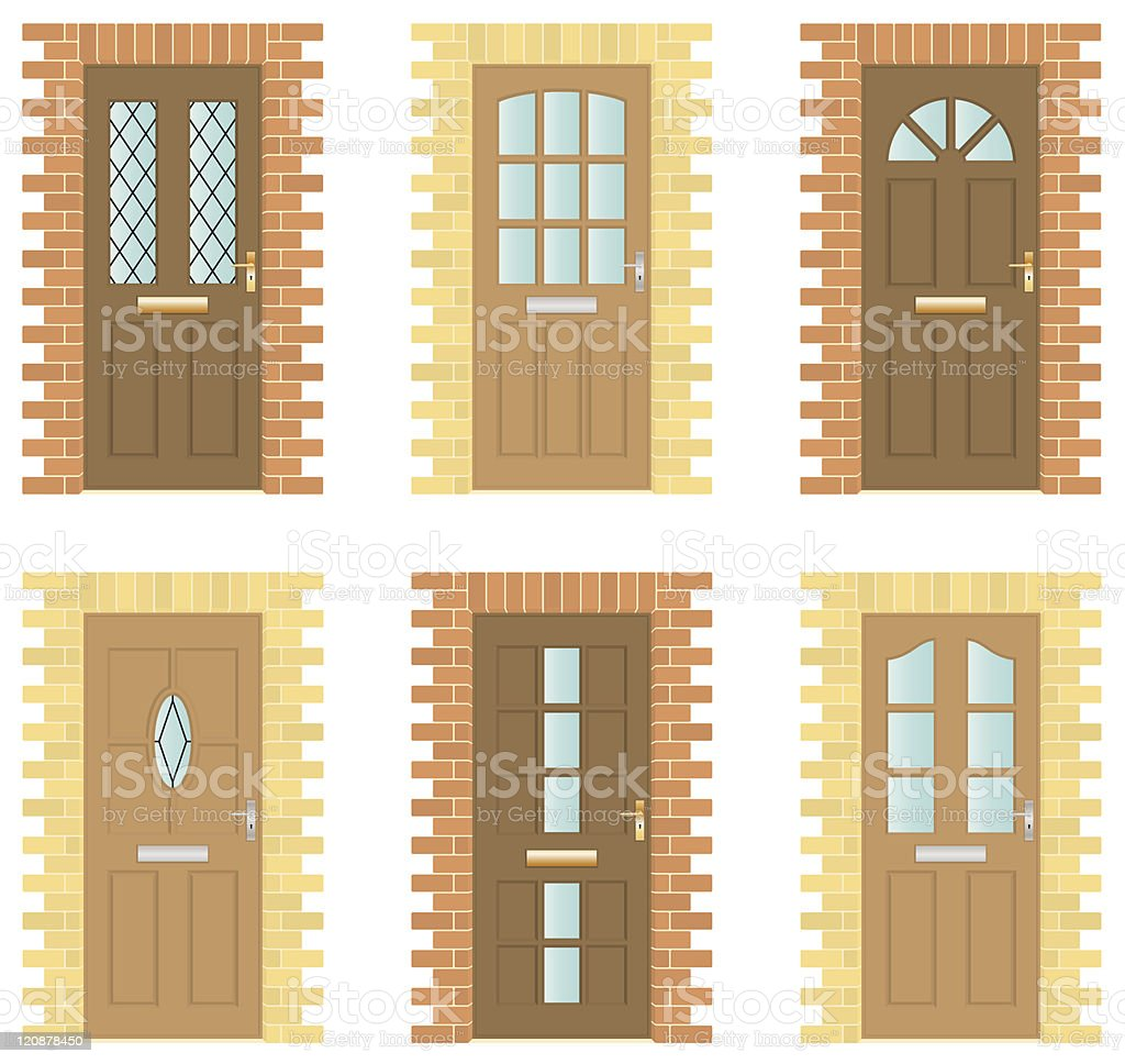 Wooden Door Set royalty-free stock vector art