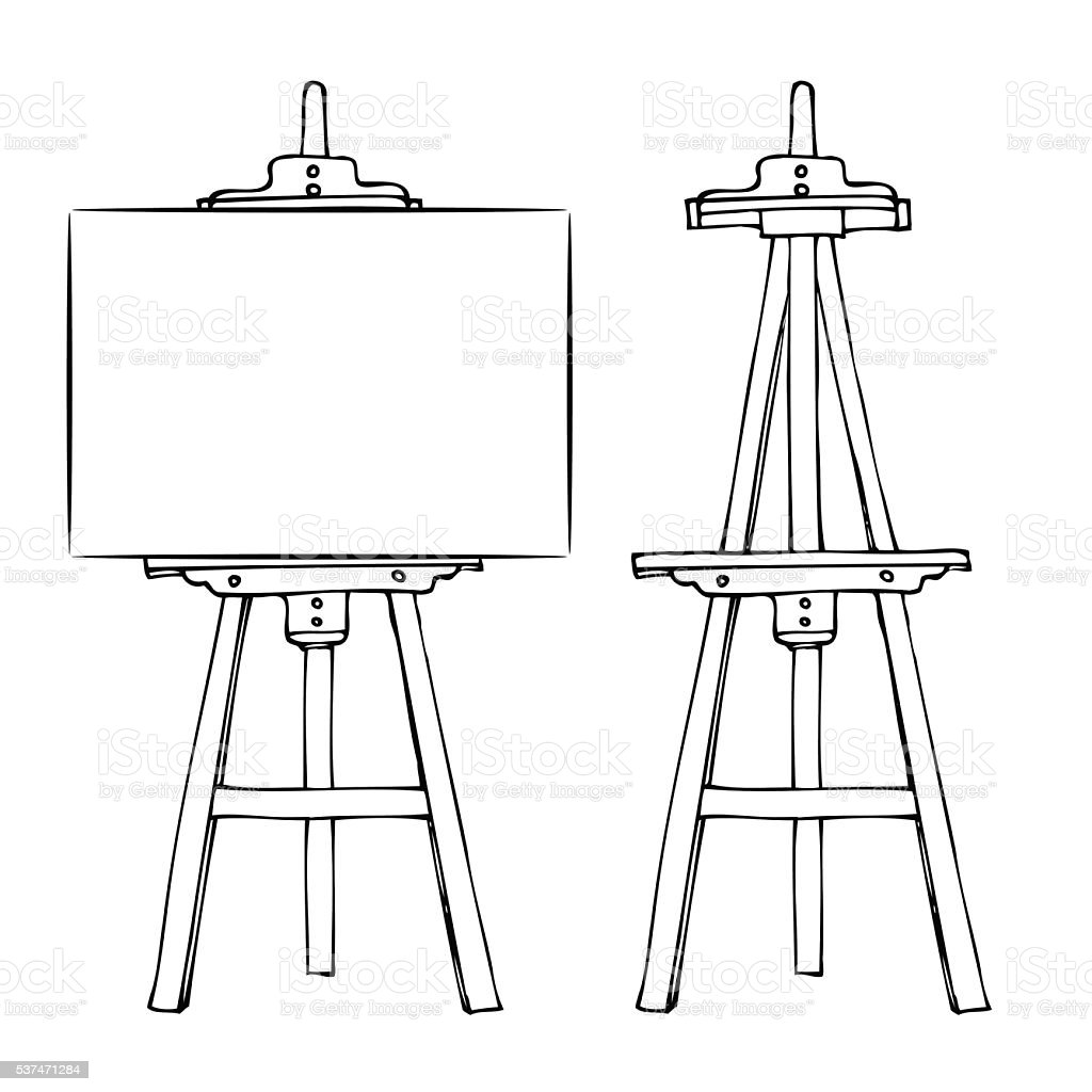 Painting Easle Clip Art