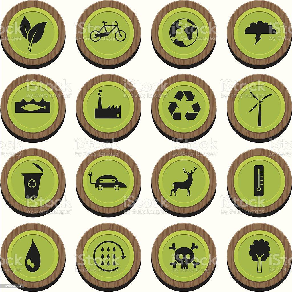 Wooden EnviroCons vector art illustration