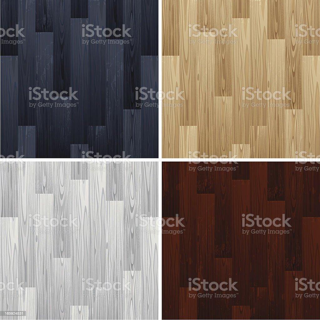 Wooden floors vector art illustration