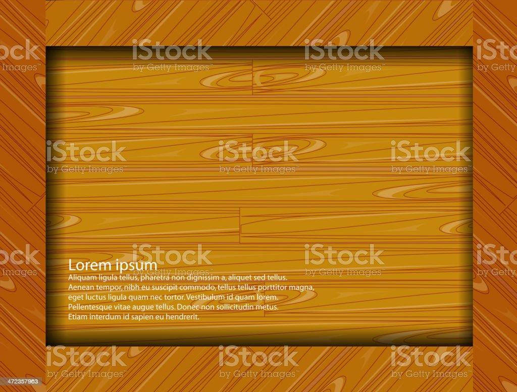 wooden frame royalty-free stock vector art