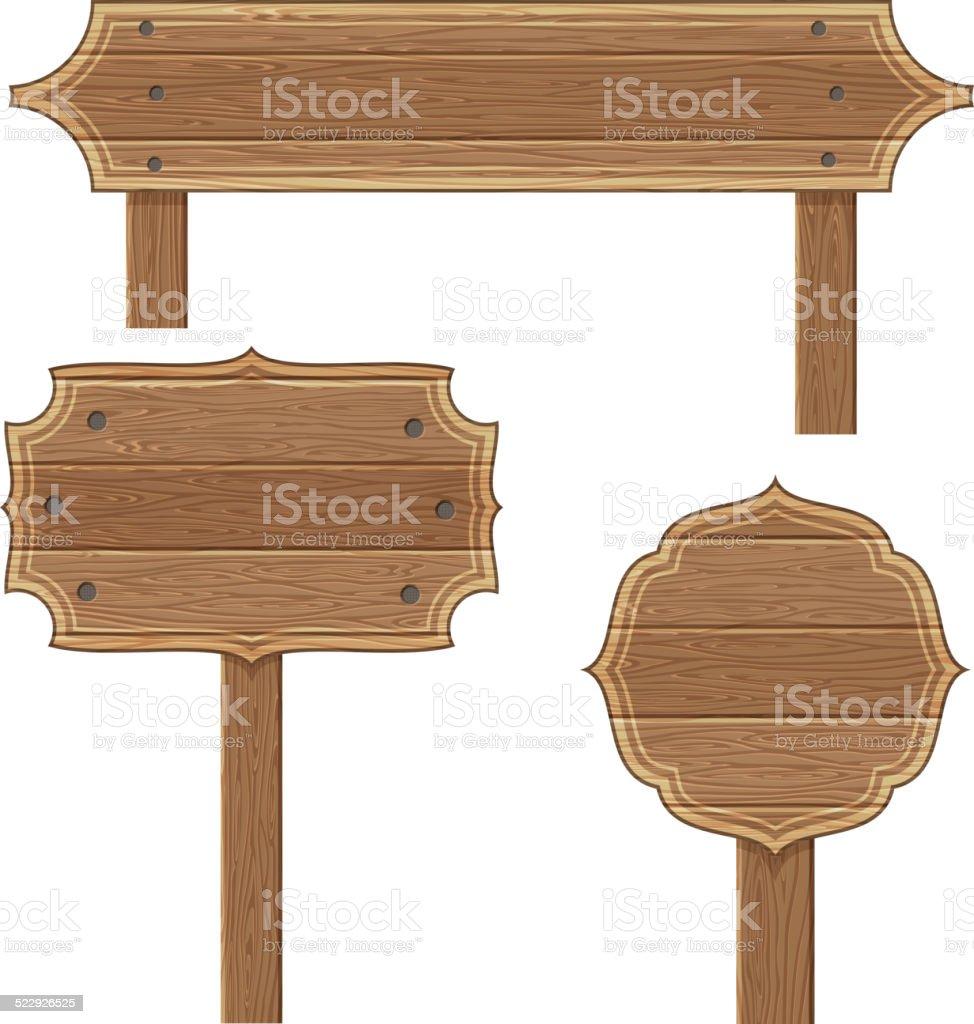 Wooden Frames vector art illustration