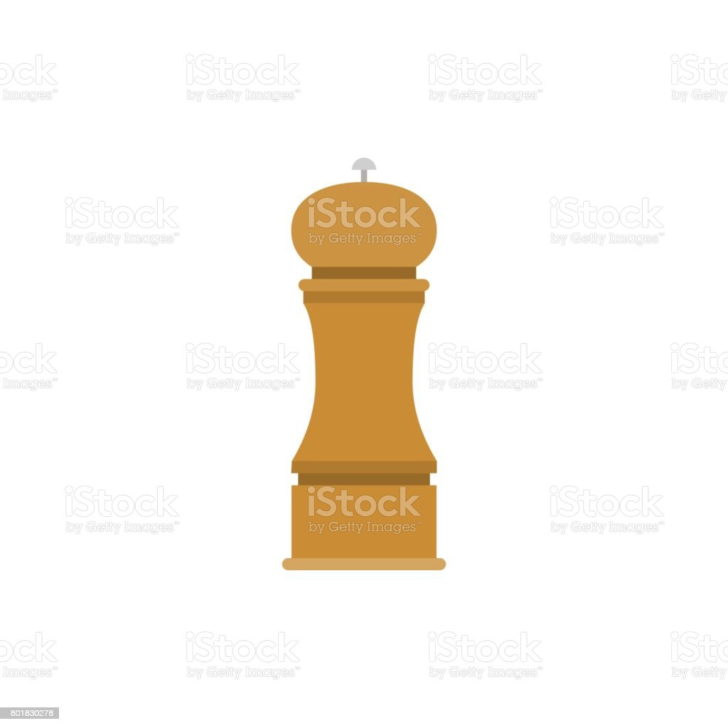 wooden grinder vector art illustration