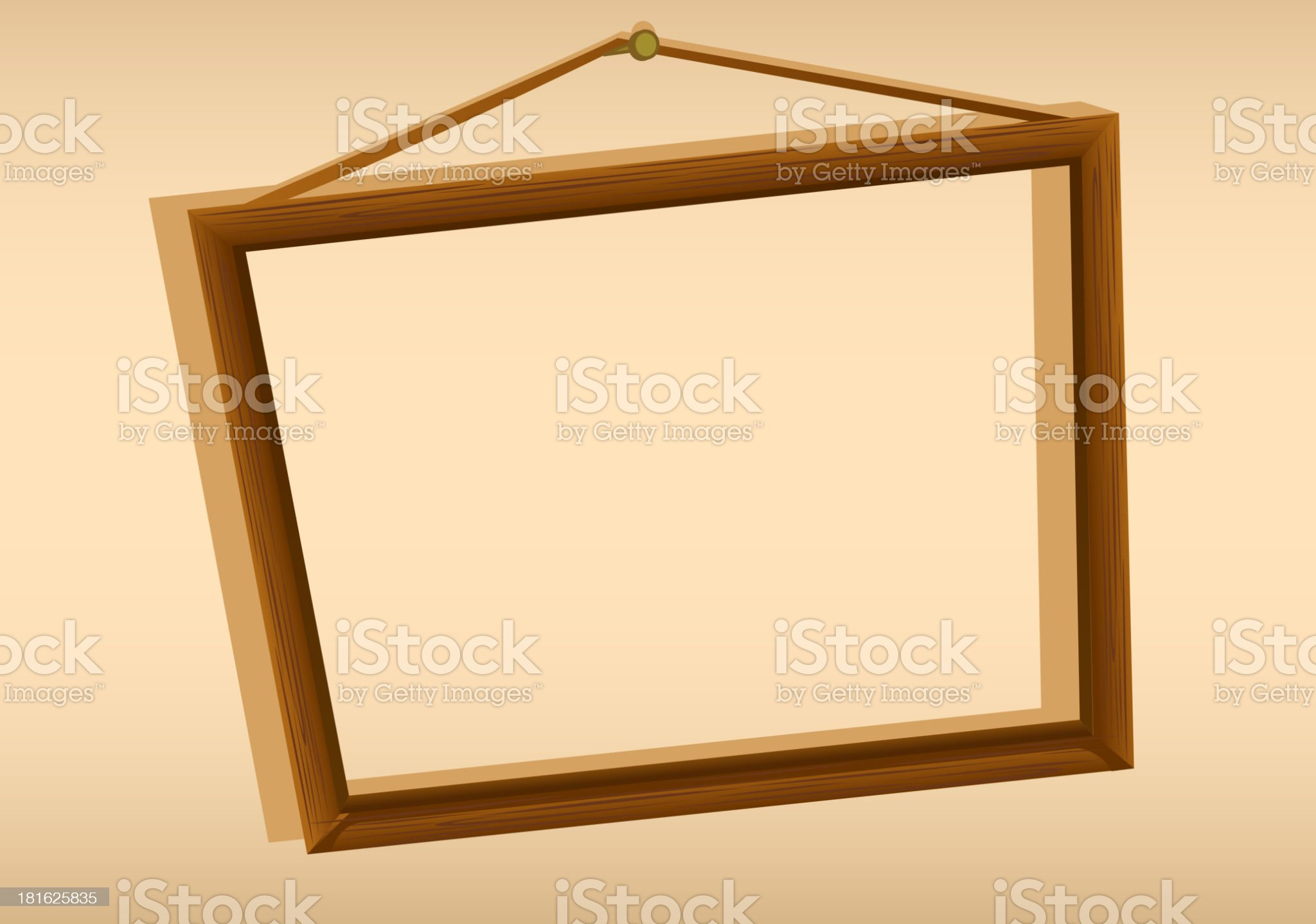 wooden hanging frame royalty-free stock vector art