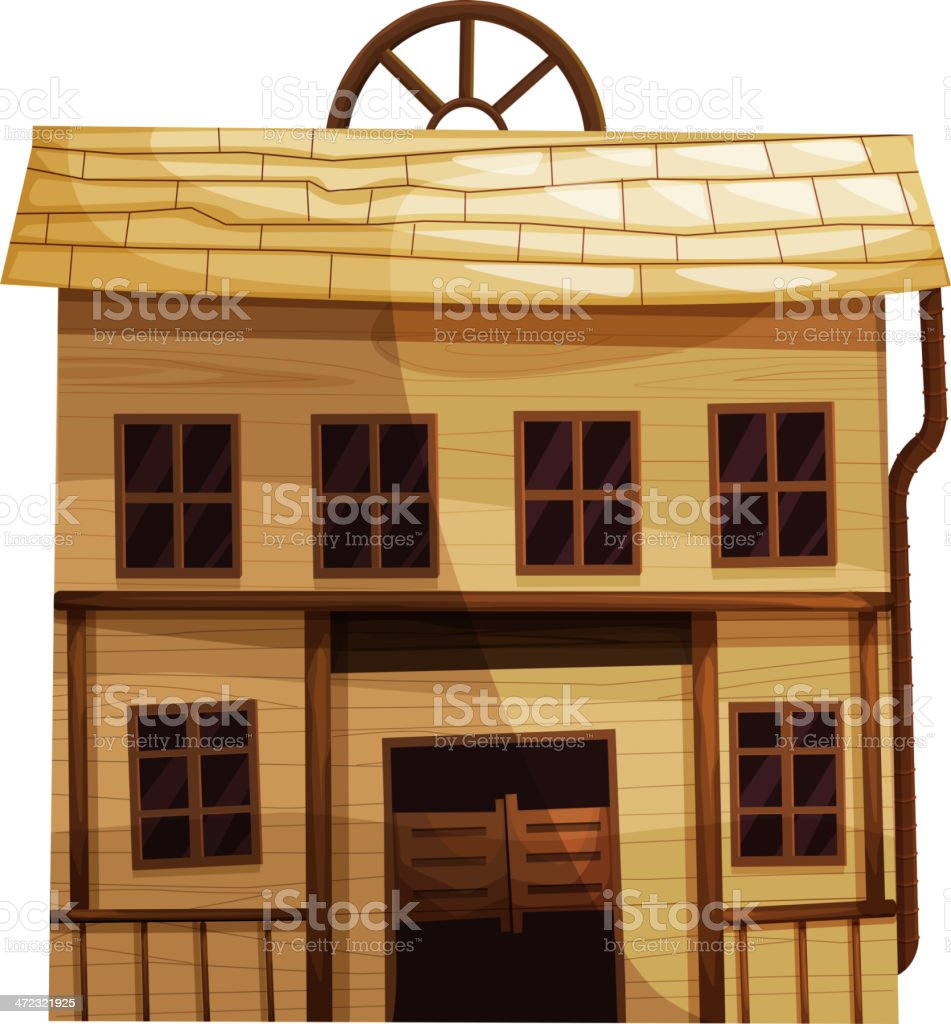 Wooden house structure royalty-free stock vector art