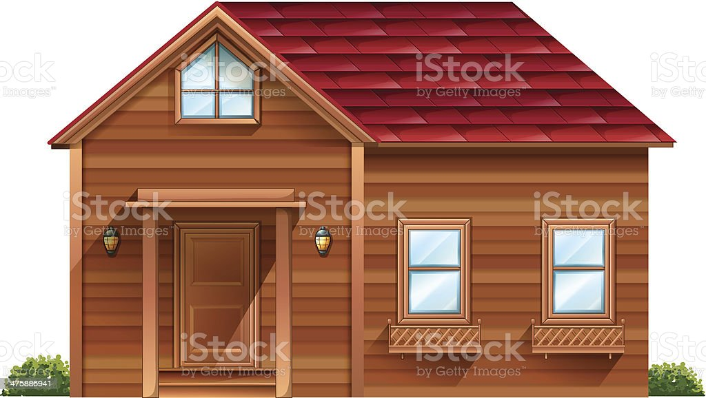 wooden house royalty-free stock vector art