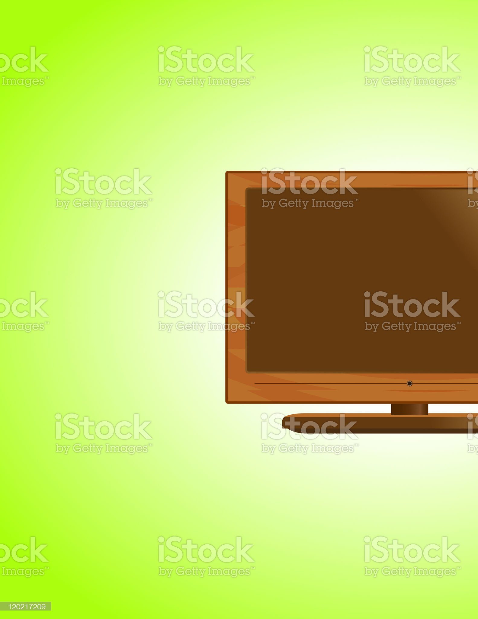 Wooden LCD TV royalty-free stock vector art