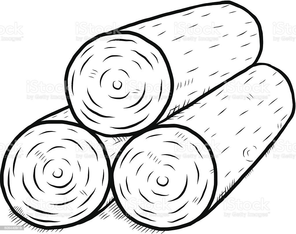 Wooden Log stock vector art 505440919 | iStock