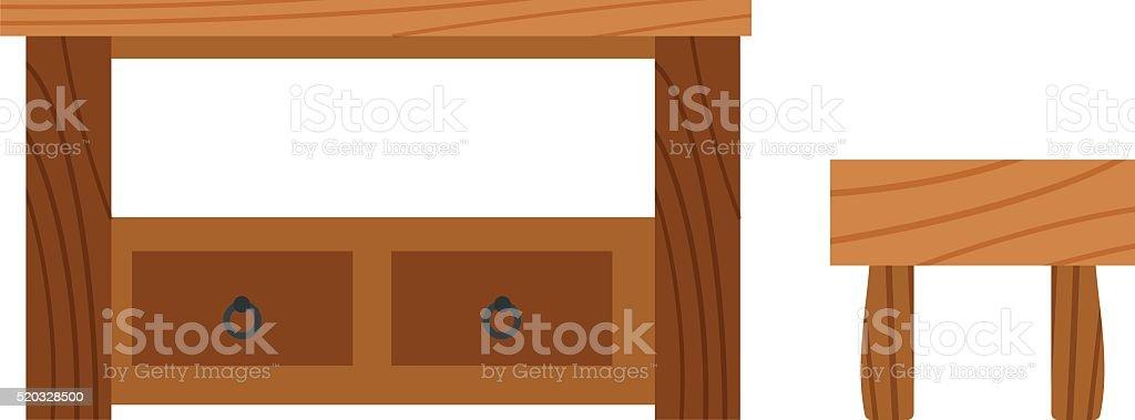 Wooden Desk Surface