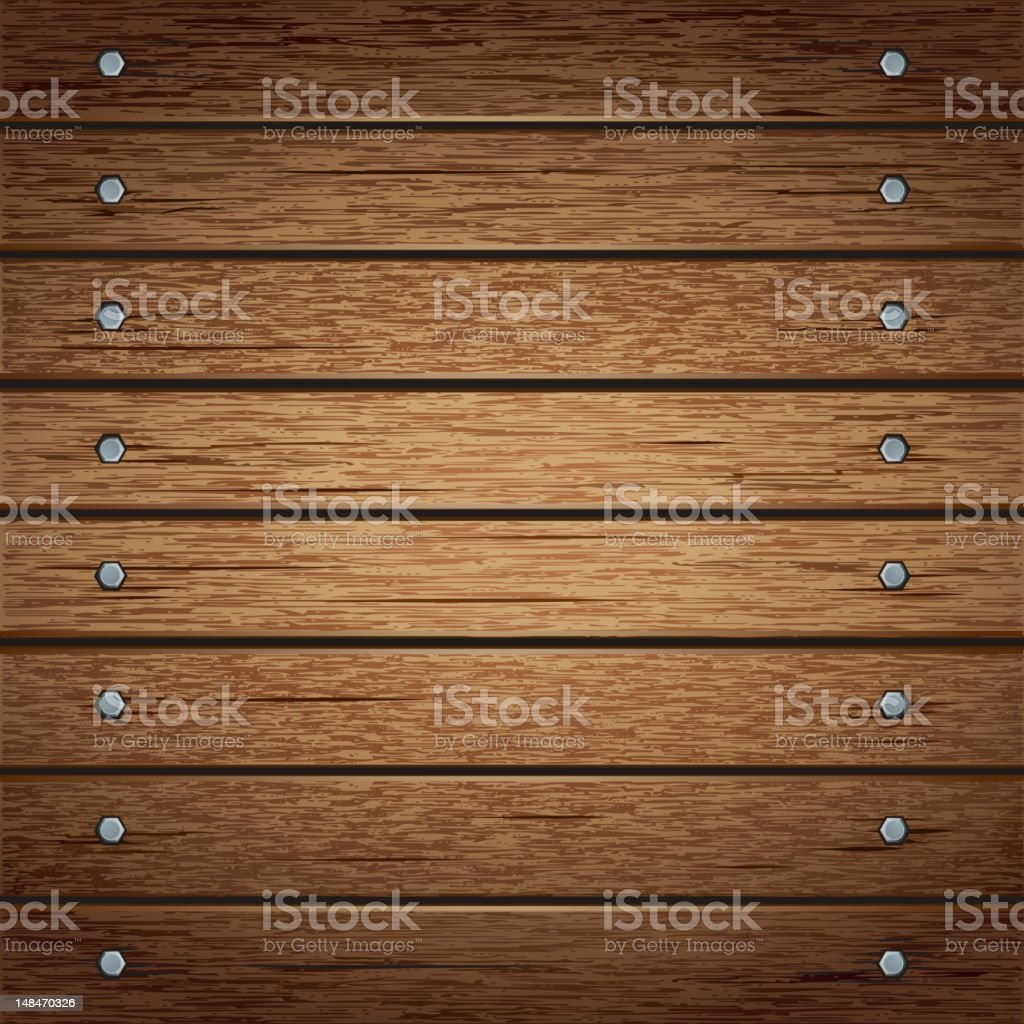 Wooden panel background. vector art illustration