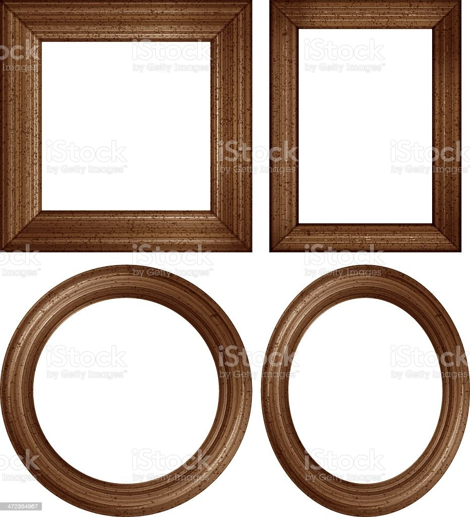 wooden picture frames vector art illustration