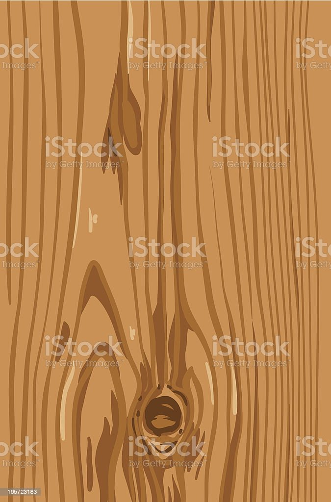 wooden pine board with knot vector art illustration