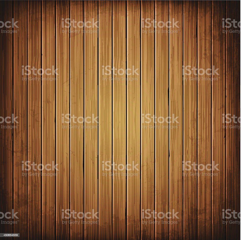 Wooden plank background vector art illustration