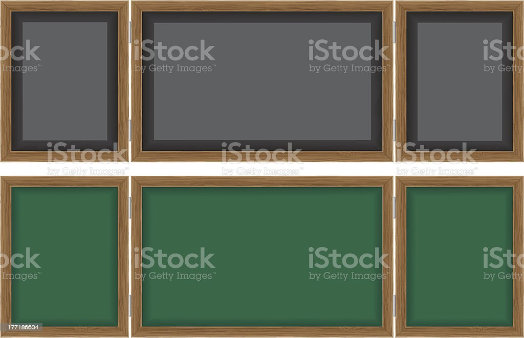wooden school board for writing chalk vector illustration royalty-free stock vector art