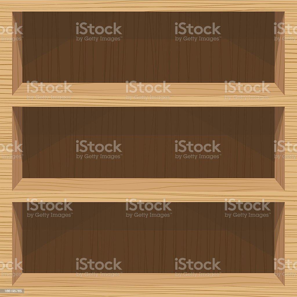 wooden shelf royalty-free stock vector art