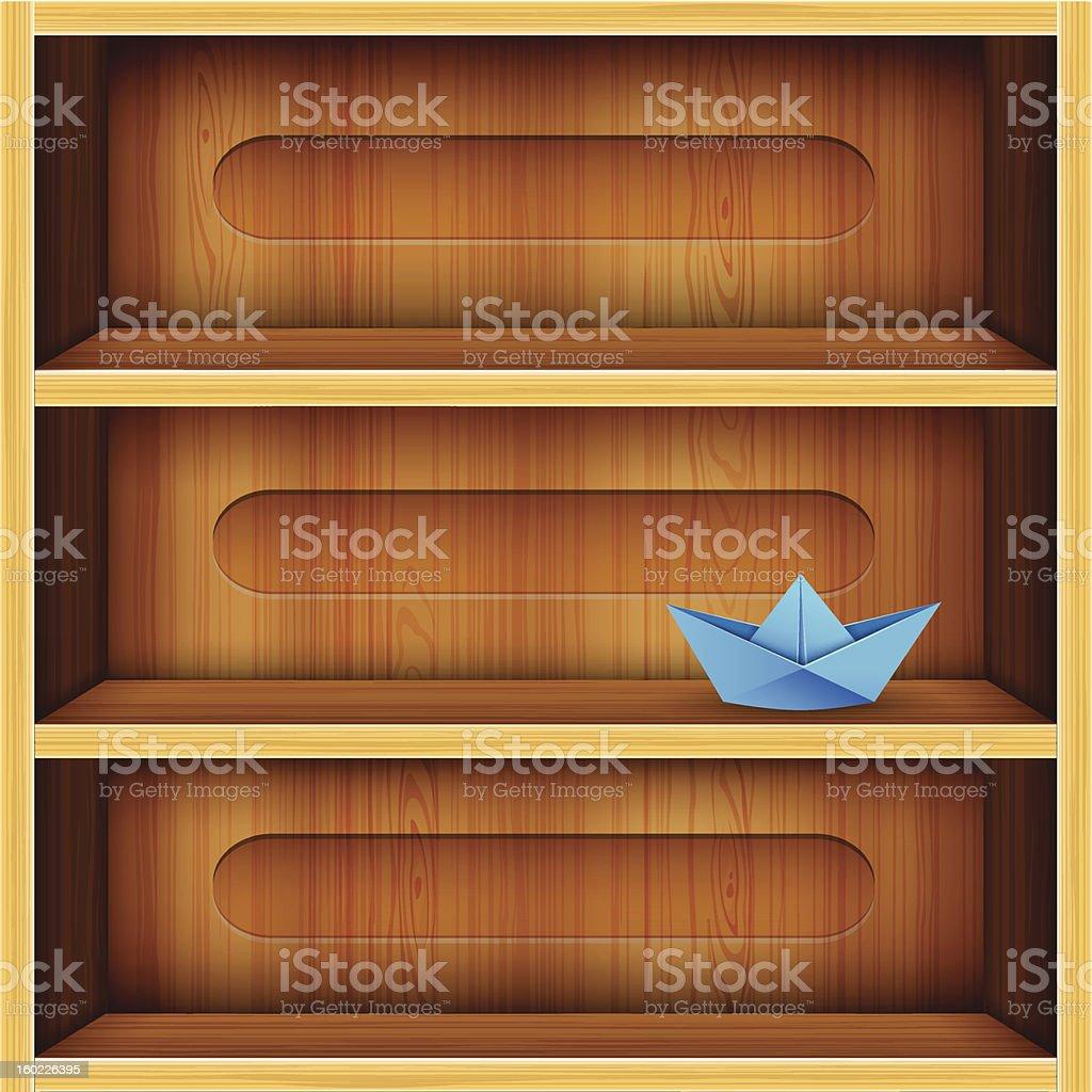 Wooden Shelf Vector Illustration royalty-free stock vector art