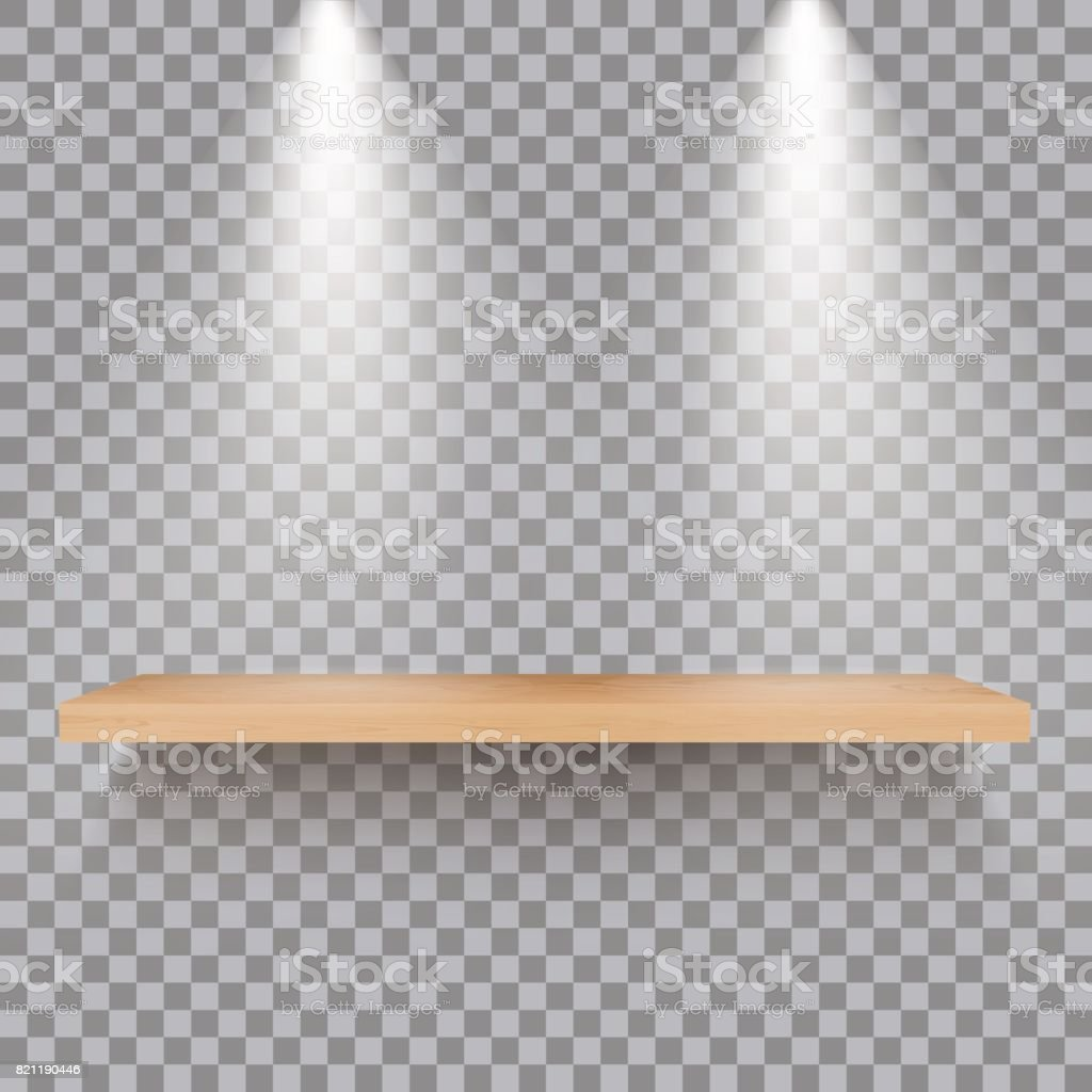 Interior wooden shelves free vector - Desk Furniture Home Interior Pattern Table Wooden Shelf Woth Lights Vector Royalty Free