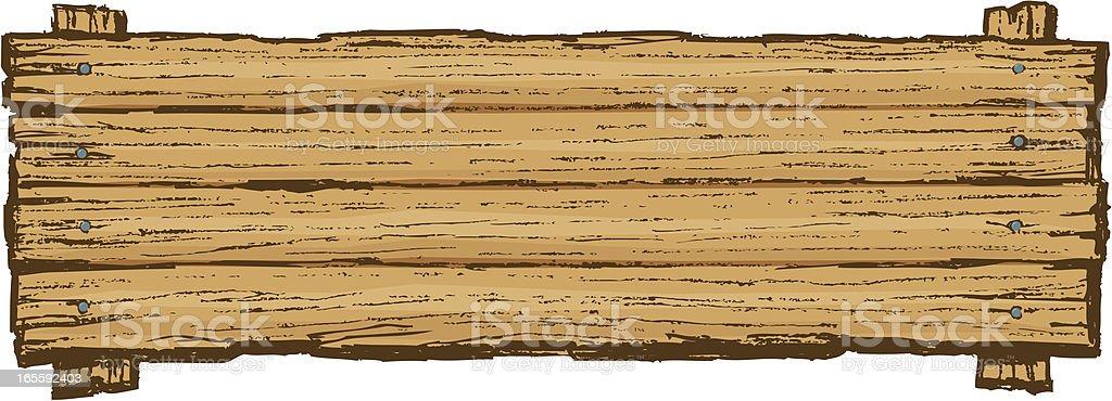 Wooden Sign Board Background vector art illustration