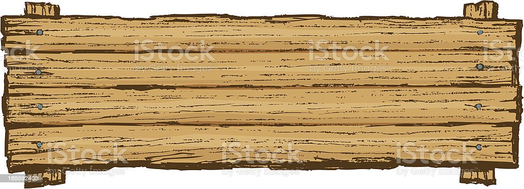 Wooden Sign Board Background vector art illustration