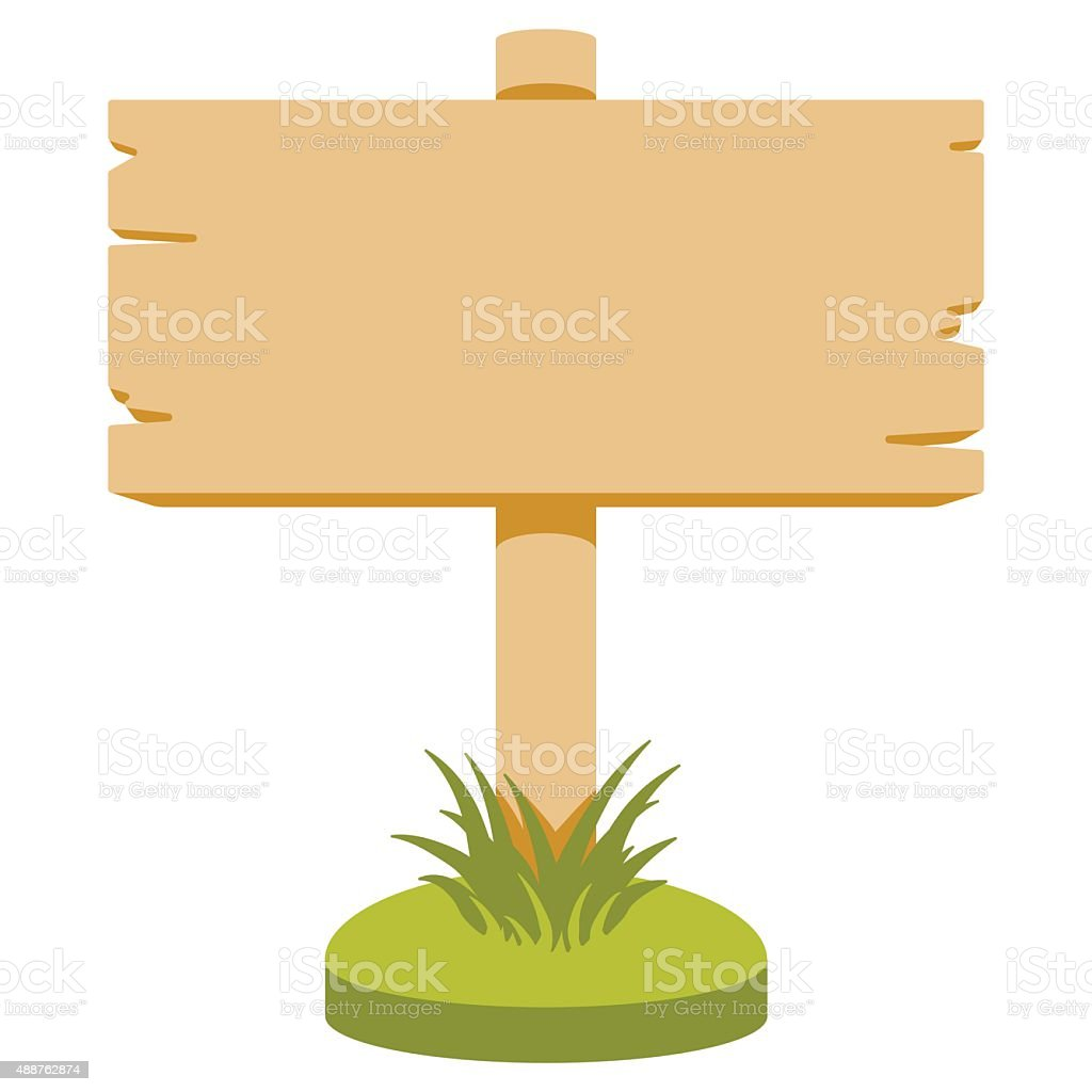 Wooden sign vector art illustration
