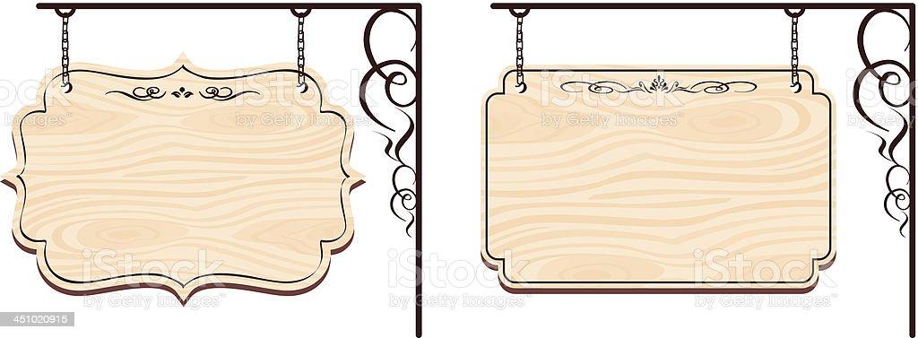 wooden sign Vector royalty-free stock vector art