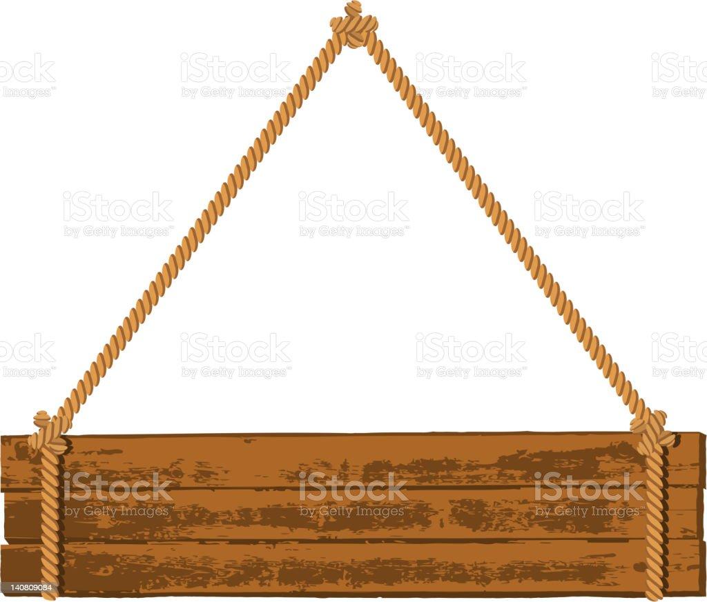 Wooden signboard royalty-free stock vector art