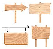 wooden signs (vector)