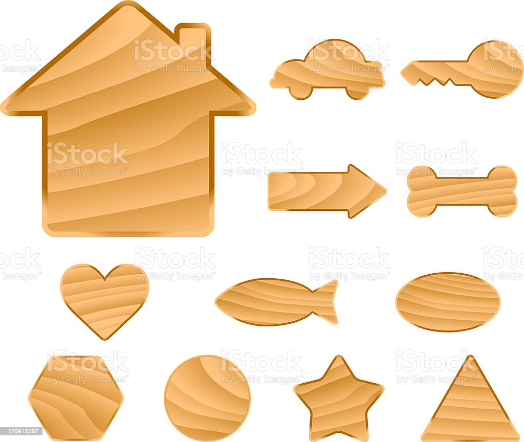 wooden symbols royalty-free stock vector art