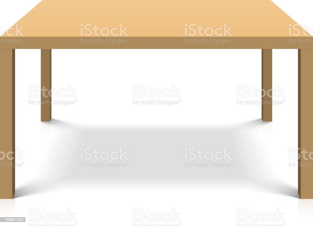 나무 탁자 일러스트 158807403  iStock