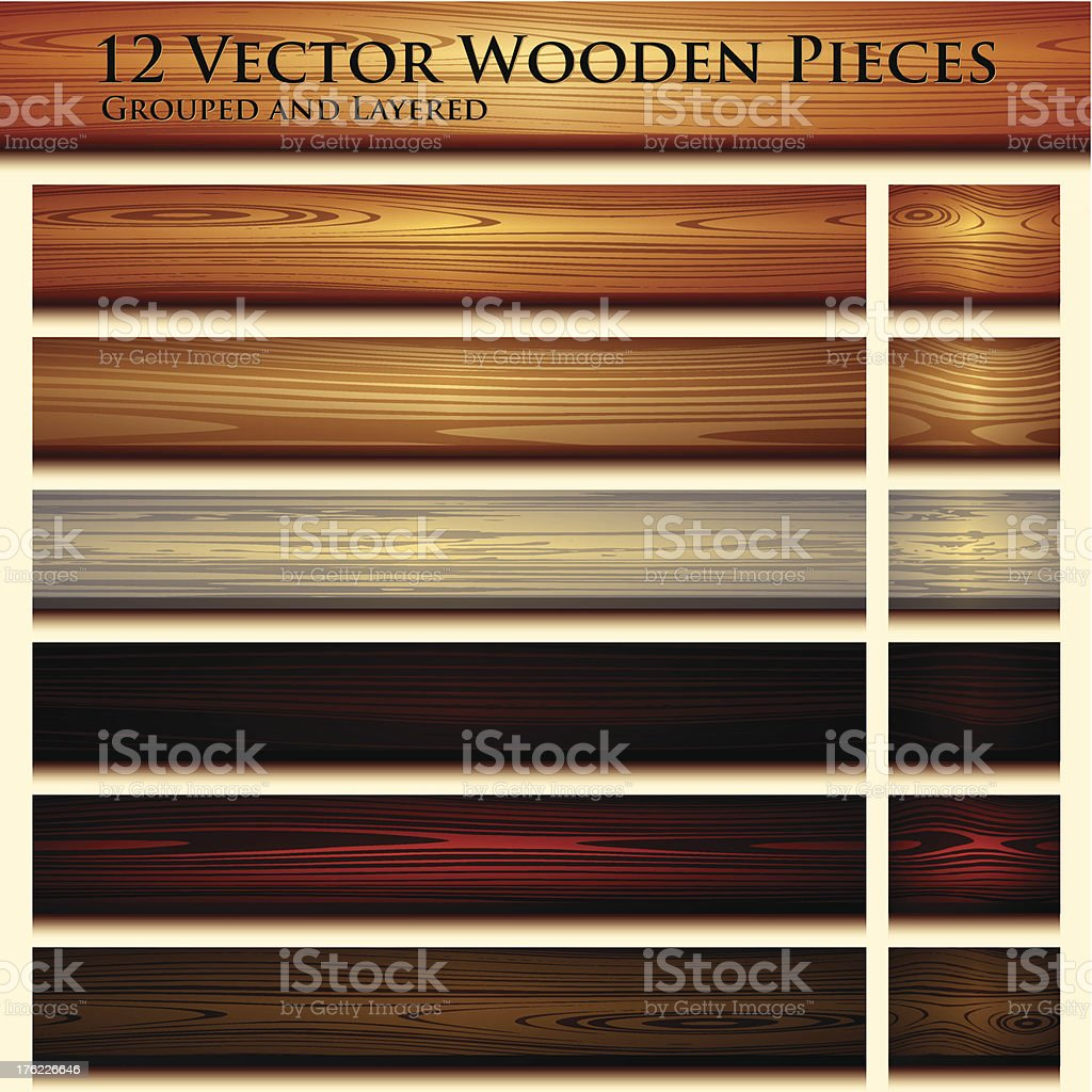 Wooden texture seamless background illustration royalty-free stock vector art