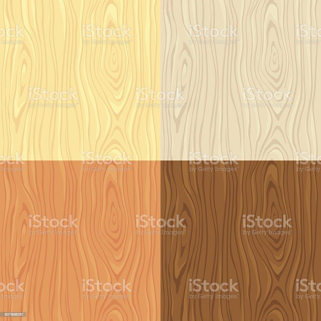 Wooden textures vector art illustration