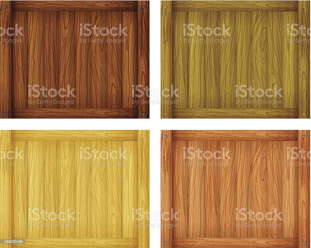 Wooden tile designs royalty-free stock vector art