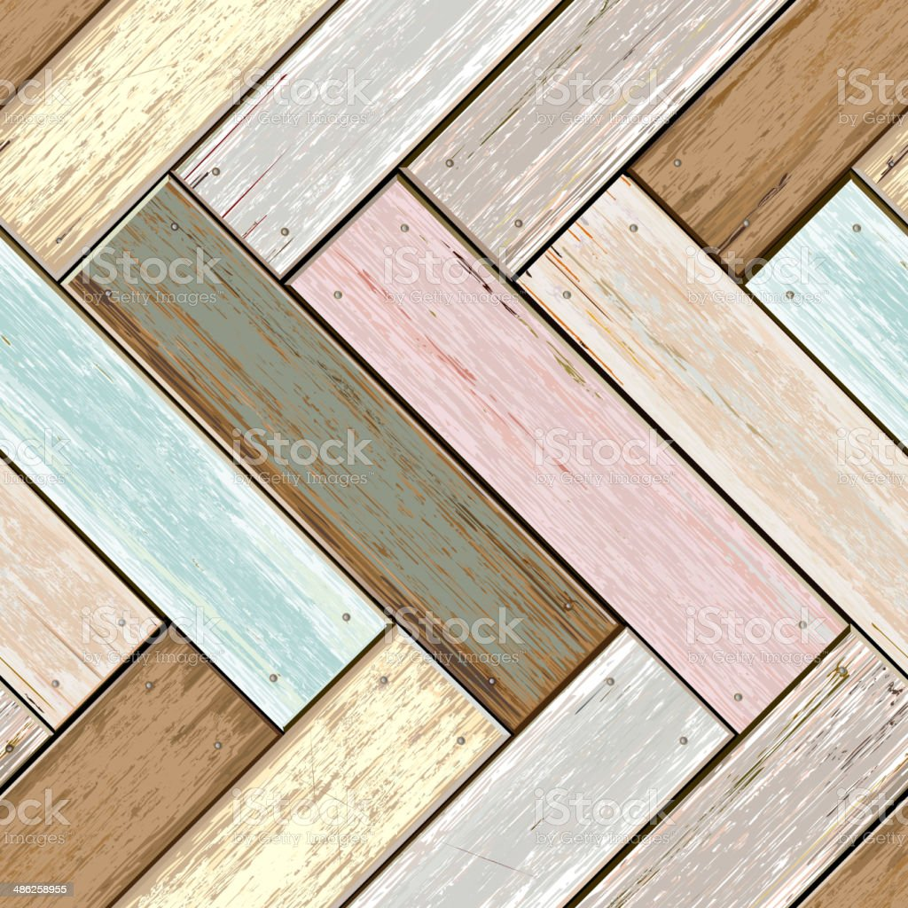 Wooden vintage color seamless texture background. vector art illustration