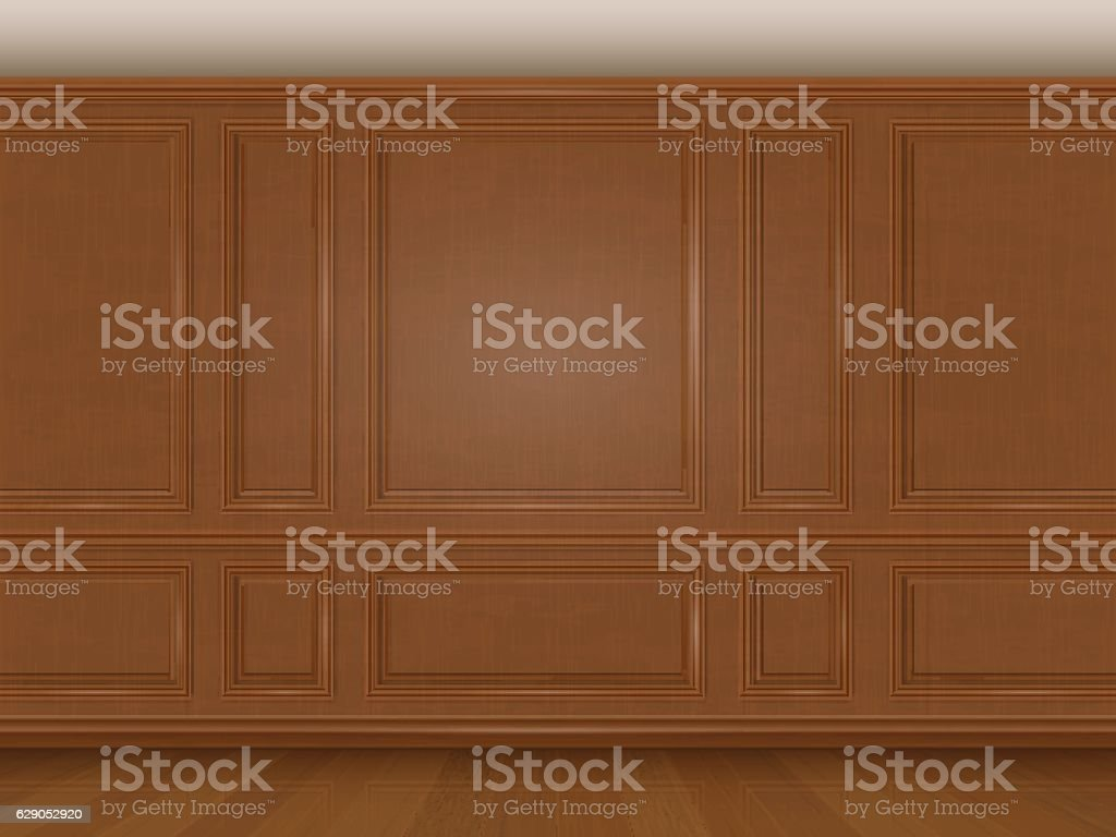 wooden wall panel vector art illustration