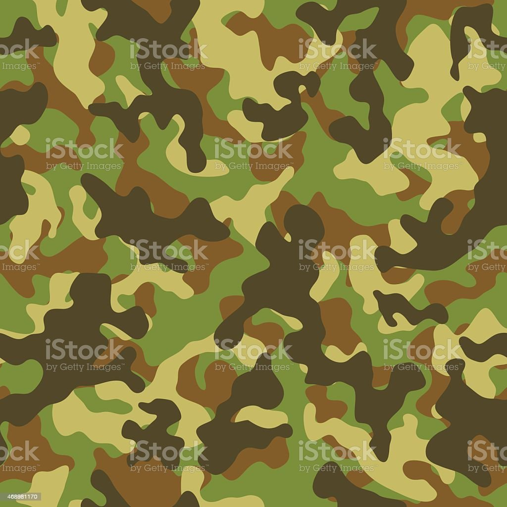 Woodland Camouflage Seamless Pattern vector art illustration