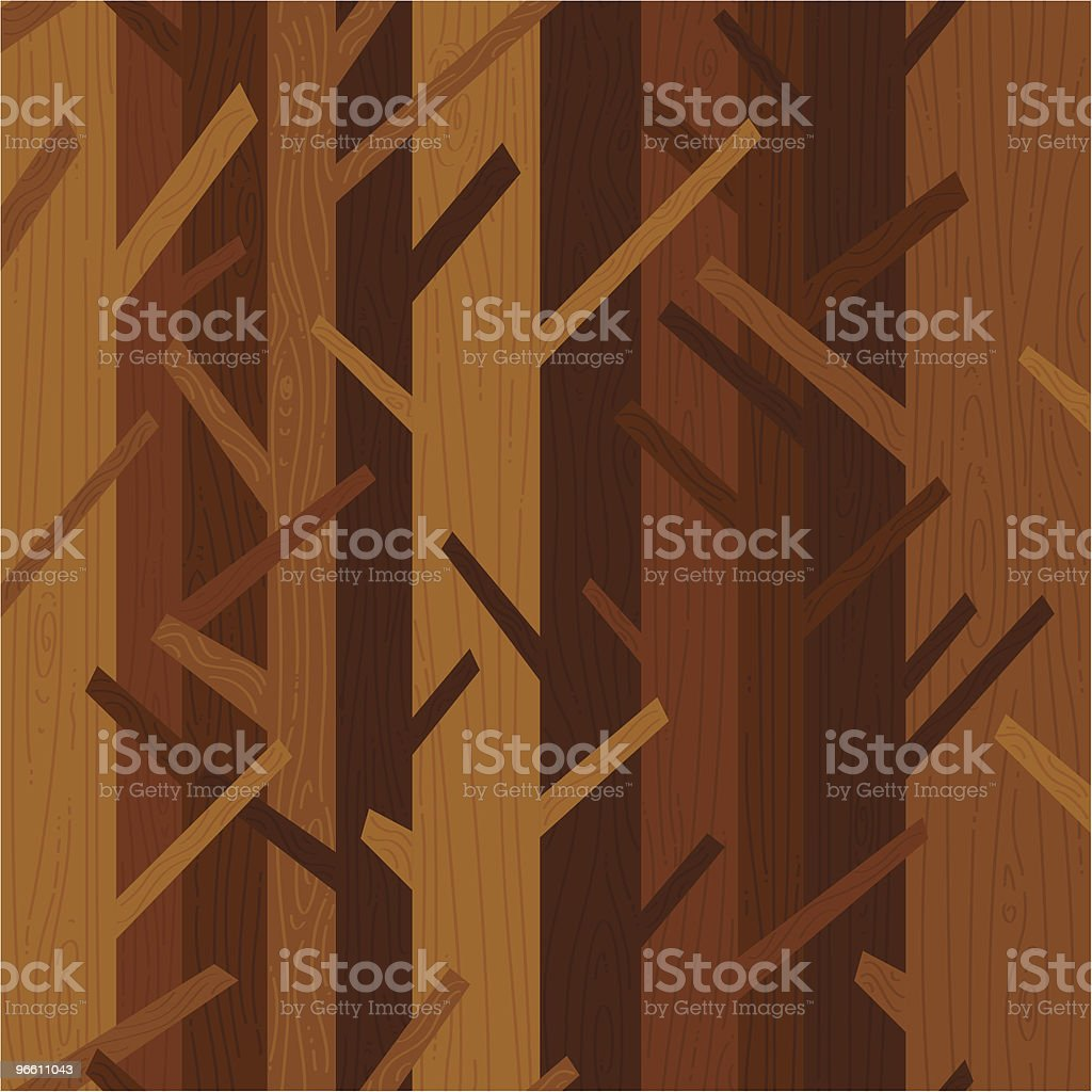 woods background vector art illustration